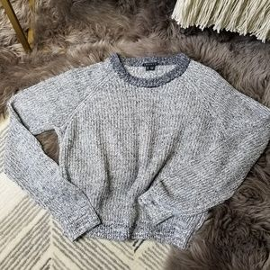 Theory 99% Linen Brombly Knit Cropped Sweater